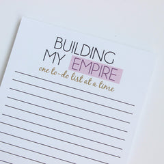 Building My Empire Notepad