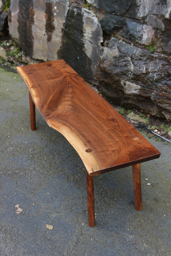 Live-Edge Black Walnut Bench