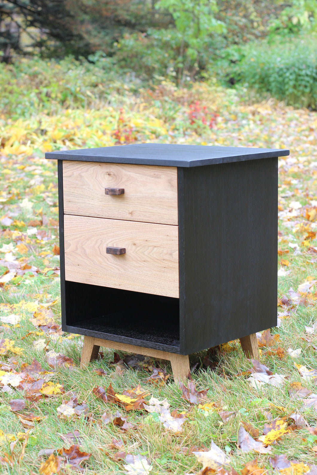 Ebonized Ash Nightstand