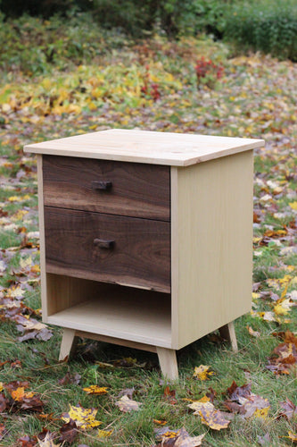 Ash and Walnut Nightstand