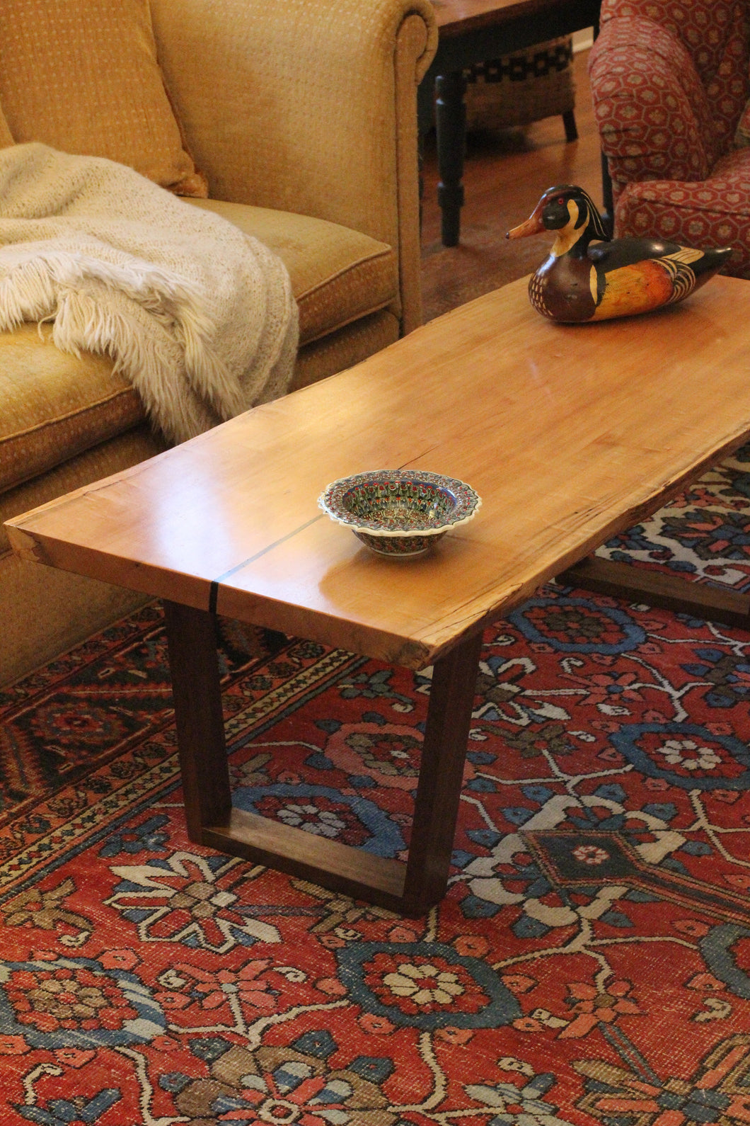 Live Edge Maple Coffee Table