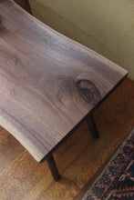 Live-Edge Walnut Side Table