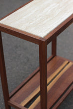 Marble and Black Walnut Live-Edge Hall Table