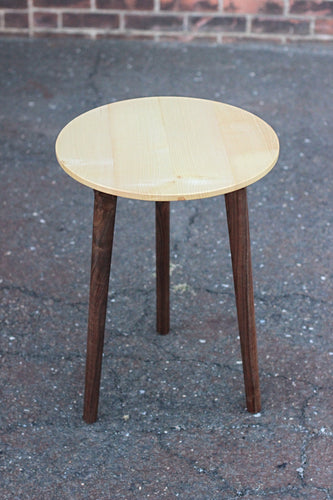 Customizable Small Round Side-Table