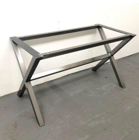 X leg table frame
