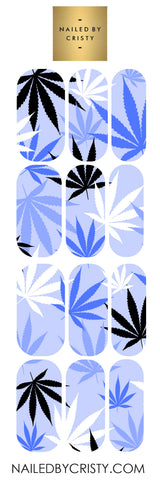 Decals- Blue Leaf