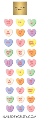 Decals- VDay3: Candy Hearts CLEAR