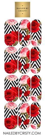 Decals- Floral Chevron
