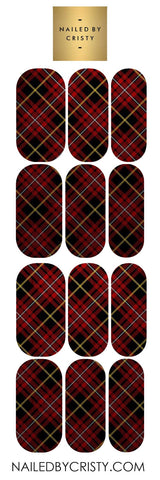 Decals- Red Plaid 2