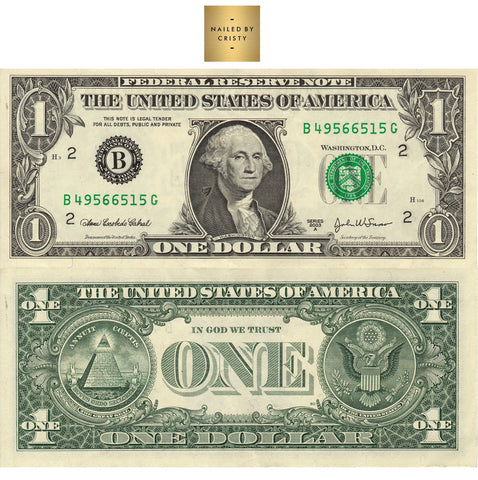 Decals- Dollar Bill Front & Back