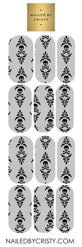 Decals- Skull Lace CLEAR