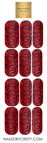Decals- Red Snake Skin