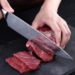 8 Inch Quality Kitchen Knife Utility Knife Western Chef Sashimi Chef Knife Damascus Cuisine Stainless Steel Knife