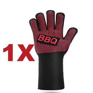 662°F Heat Proof Resistant Oven BBQ Gloves Kitchen Cooking Silicone Mitts