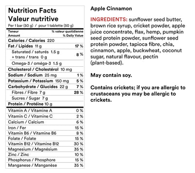 Cricket Protein Bar - Apple Cinnamon