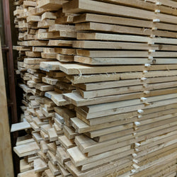 1x5x8 rough cedar lumber used for garden beds
