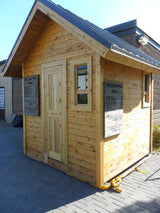 8'x8' Cedar Sauna with Steel Roof