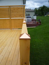 Cedar Deck with railings and louves