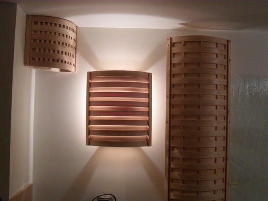 Cedar Lights handcrafted with solid cedar lumber
