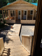 Sunroom with Cedar Deck Walkway