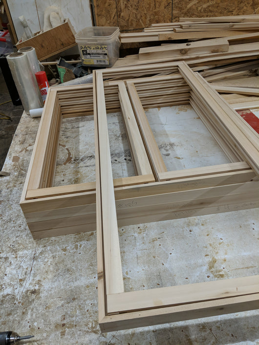 Custom cedar windows