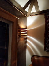Cottage Light crafted from solid cedar lumber