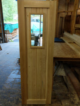 Solid cedar sauna door with window