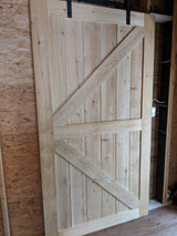 "52"" x 96"" Solid Cedar Sliding Door"