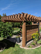 Custom pergolas by Morrison are crafted and designed to give a backyard a new look.