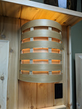 Custom Cedar Sauna Lights