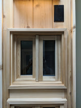 "16""x16"" White Manitoulin Cedar Window"