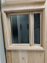 24x24 Sauna Cedar Window with Magnet Technology