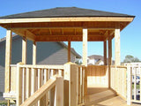 Gazebos are great for decks. This adds a new entertainment space for eating or just staying away from the bugs.