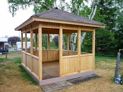 10'x10 Cedar Pavilion custom made by Morrison.