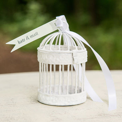 small birdcage favour containers black or white