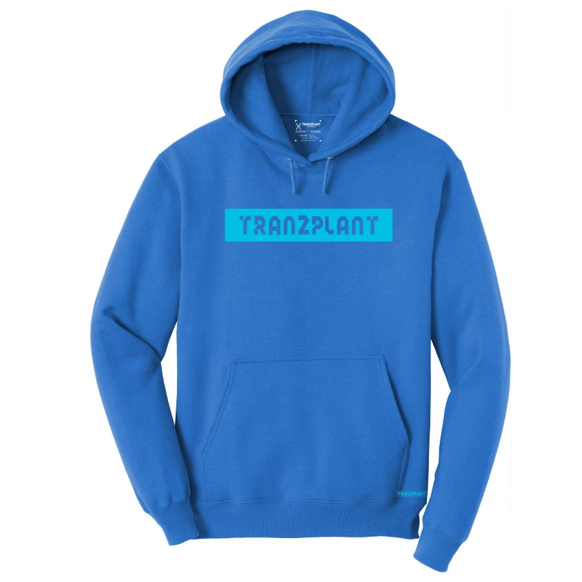 BLUE ICE HOODED PULLOVER - Tranzplant Clothing Co