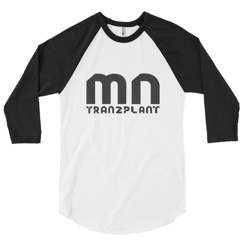 BLACK\WHITE MNT 3/4 SLEEVE RAGLAN SHIRT - Tranzplant Clothing Co
