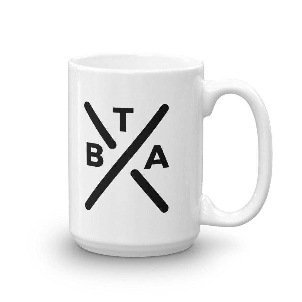 BORN TO ADAPT WHITE CERAMIC COFFEE MUG - Tranzplant Clothing Co