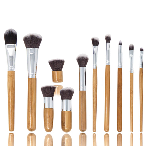 ProNoir | 11 Piece Bamboo Eco Make-Up Brush Set in Handy Pouch