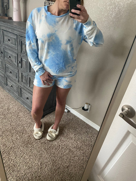 Tie dye long sleeve lounge set (2colors)
