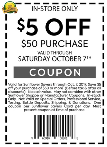 $5 off $50 Purchase
