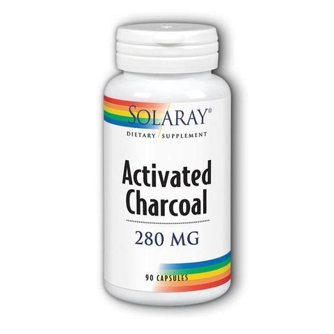 ACTIVATED CHARCOAL 280 MG 90