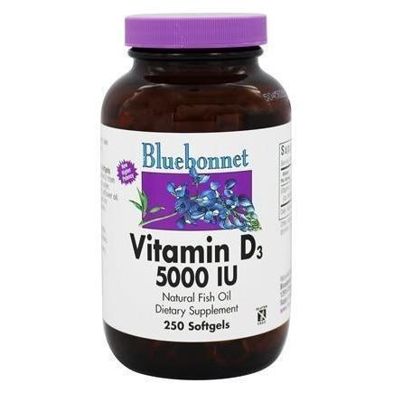 VITAMIN D3 5000 IU 250 SOFTGELS