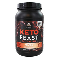 KETO FEAST MAPLE CAFFEINE FREE 710 GRAMS