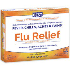 FLU RELIEF HOMEOPATHIC MEDICINE 12 DOSES