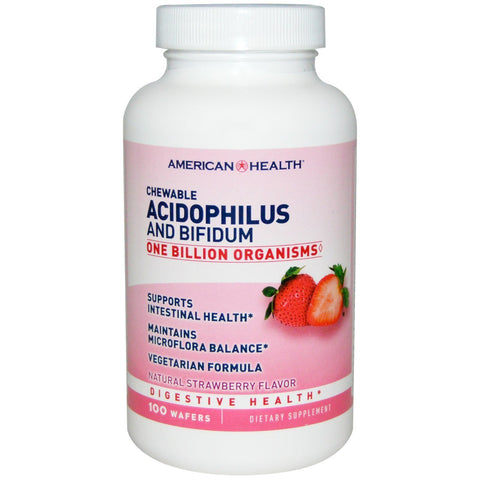 CHEWABLE ACIDOPHILUS STRAWBERRY 100