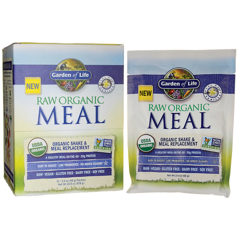 RAW ORGANIC MEAL SHAKE & MEAL REPLACEMENT VANILLA 10 PACKET