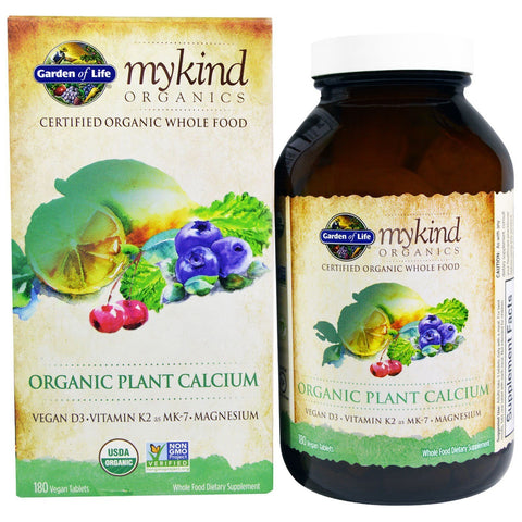 GARDEN OF LIFE KIND PLANT CALCIUM 180 TAB | Sunflower Shoppe ...