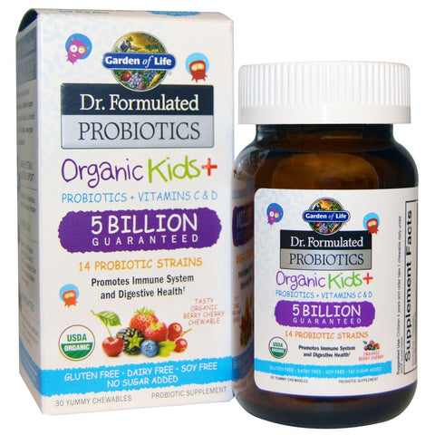 ORGANIC KIDS + PROBIOTICS 30 CHEWS