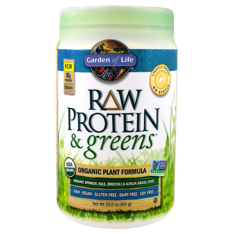 PROTEIN & GREENS LIGHTLY SWEETENED 656G